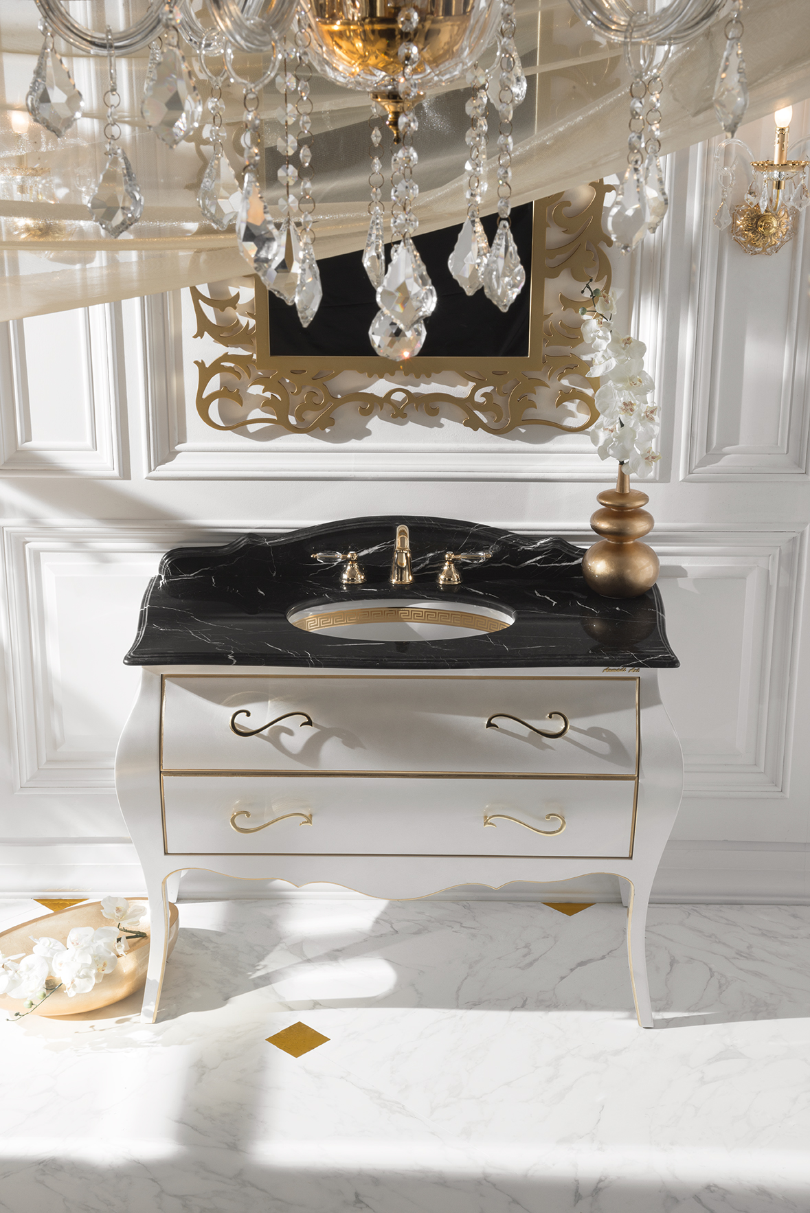 Dea White Gold Vanity